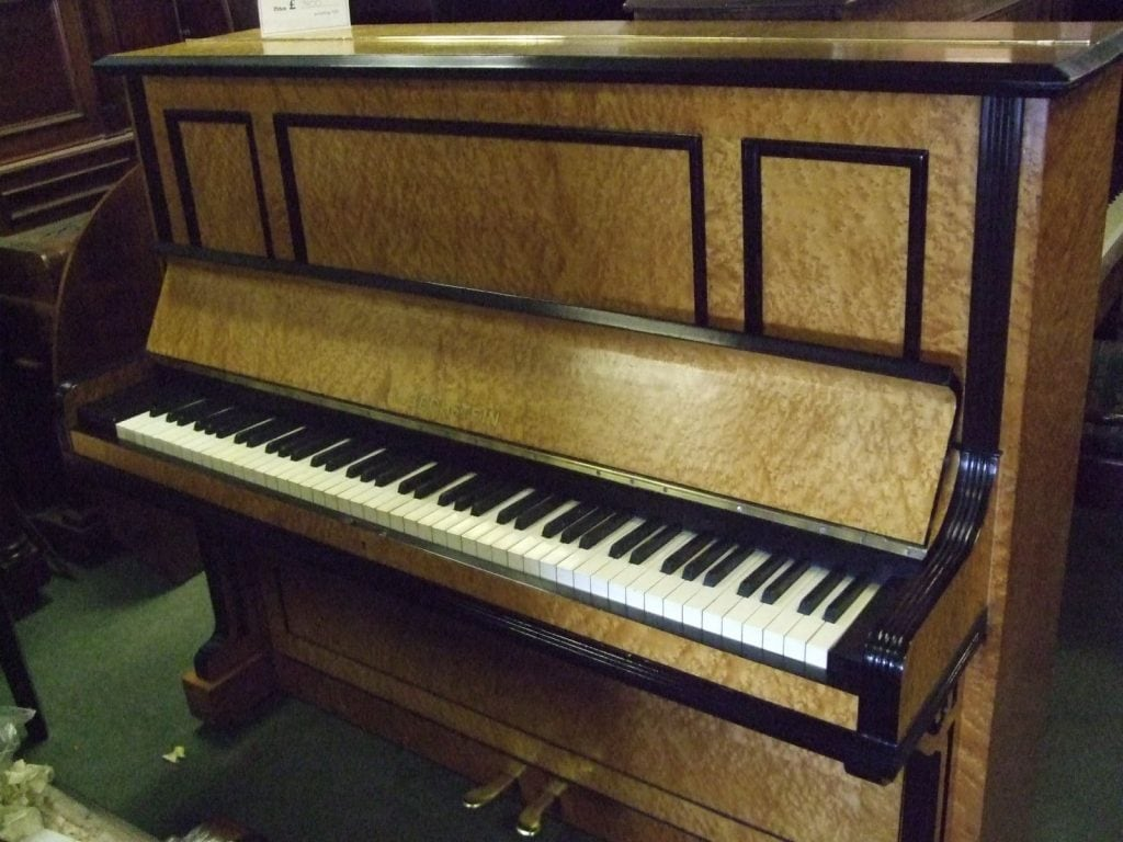 1904 Bechstein Model 9 Biedermeier piano in birdseye maple and ebony case