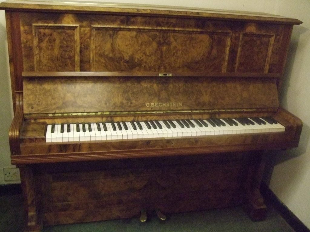1904 Bechstein Model 9 piano in a figured and burr walnut case