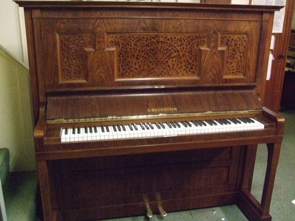 1913 Bechstein Model 6 piano art nouveau rosewood case