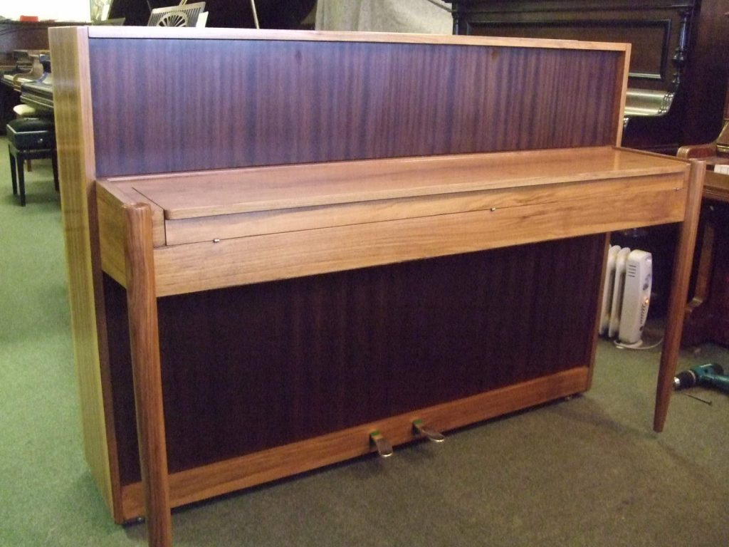1962 Danemann small upright piano in an art deco case