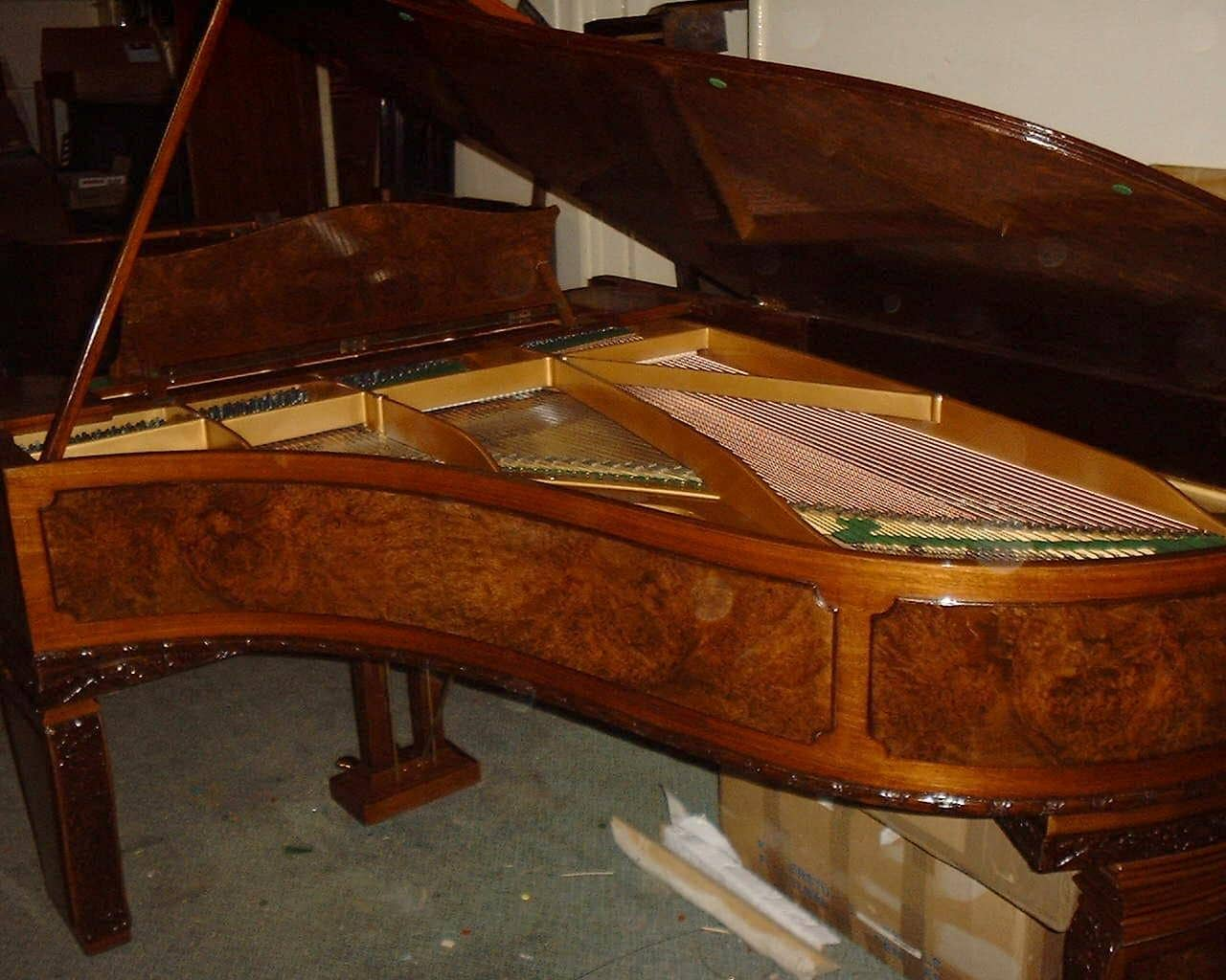 1913 Bechstein Grand Piano Art Nouveau Rear view
