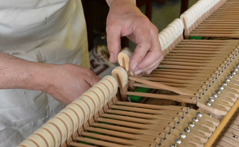 restoring piano action keys and dampers